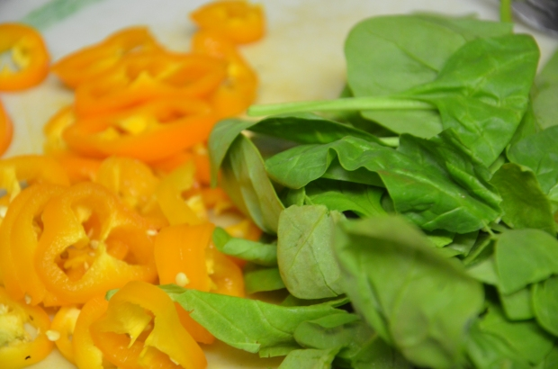 Spinach and Peppers