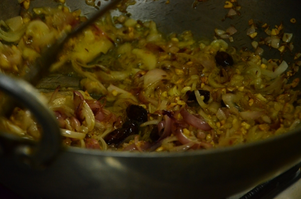 Tadka in the making.