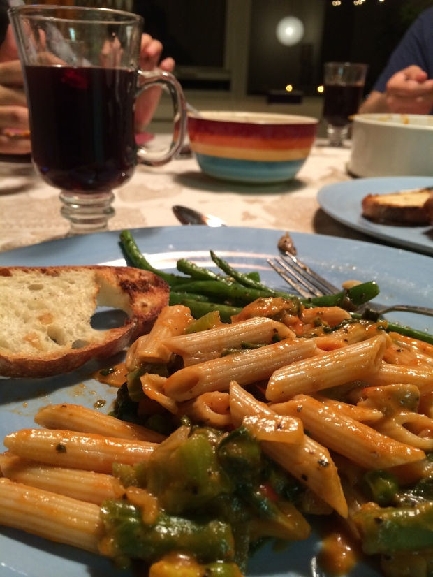 Pasta, Bean and Mulled Wine