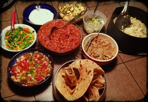 The spread, pile it up and enjoy!