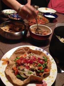 Assembling the burrito
