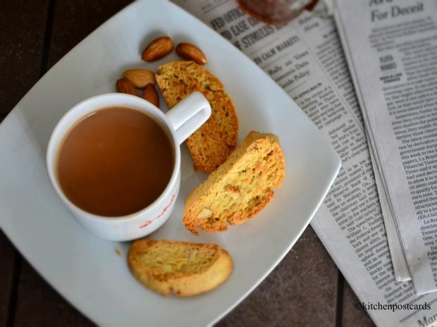 Biscotti and tea.