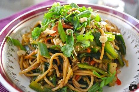 Asian style peanut noodle salad recipe