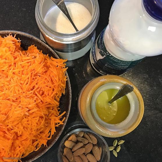 Gajar Halwa Ingredients