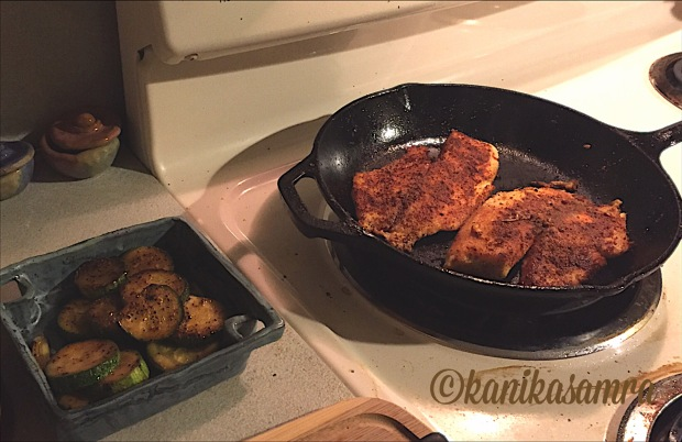 Cooking blackened tilapia