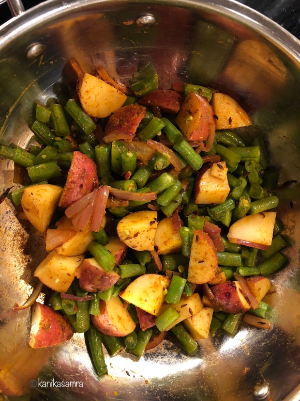 Cooking with tadka.