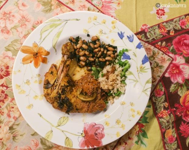 Palak Lobiya with Chicken