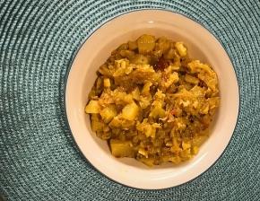 Aloo Patta Gobhi recipe in Instant Pot Mini